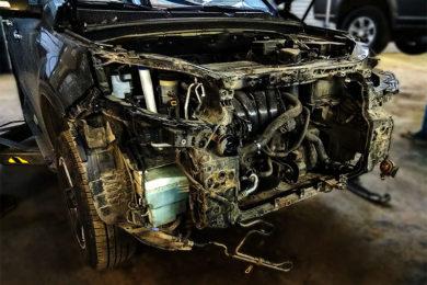 Чистка радиаторов двигателя и кондиционера KIA HYUNDAI