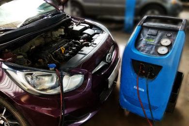 Заправка и ремонт кондиционера KIA RIO 2011-/ HYUNDAI SOLARIS