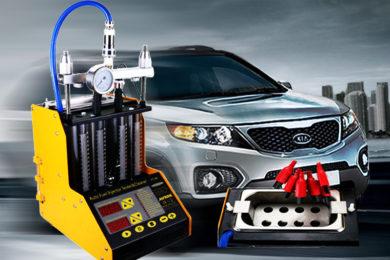 Промывка и диагностика инжекторов (форсунок) KIA Sorento