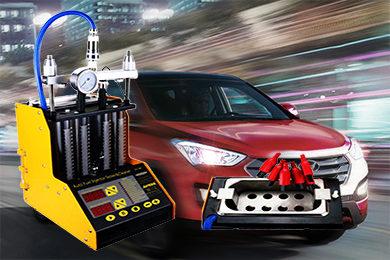 Промывка и диагностика инжекторов (форсунок) Hyundai Santa fe