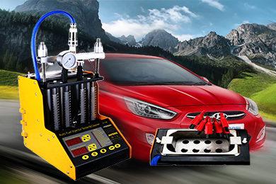 Промывка и диагностика инжекторов (форсунок) Hyundai Solaris